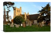 Church of St Peter and St Paul, Wingrave, Canvas Print