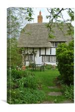 Old Church Cottage, Long Marston, Canvas Print