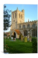 The Church at Wingrave, Canvas Print