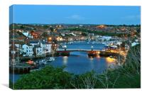 The Swing Bridge, Whitby at Dusk, Canvas Print