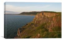 Cliffs on Worm's Head - Rhossili Bay - Gower, Canvas Print