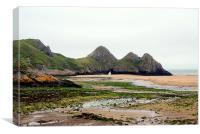 Three Cliffs Bay - Gower, Canvas Print