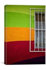 Rainbow wall and Window, Canvas Print