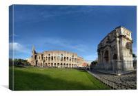 Rome Colosseum, Canvas Print