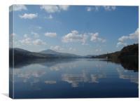 Bala Lake on a clear day, Canvas Print