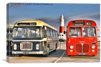 Vintage Buses, Canvas Print