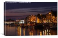 Weymouth by Night, Canvas Print