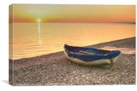 Boat on the Beach, Canvas Print