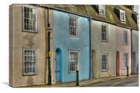 Harbourside Cottages, Canvas Print