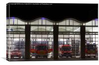 Fire Station, Canvas Print