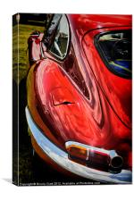 E Type Jag, Canvas Print