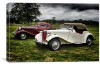 Classic MG Cars, Canvas Print