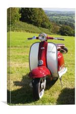 Lambretta Li 125 Scooter, Canvas Print