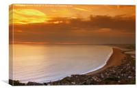 Sunset Over The Jurassic Coast, Canvas Print