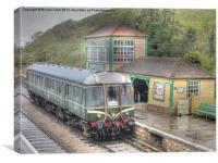 Corfe Castle Railway Station, Canvas Print