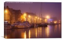 Foggy Harbour, Canvas Print