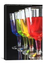 Colourful Liqueurs, Canvas Print