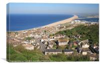Chesil Beach in Summer, Canvas Print