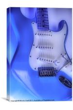 Electric Fender Stratocaster Guitar, Canvas Print