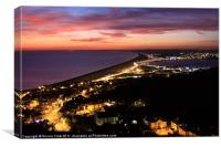 Night View Over Chesil Beach, Canvas Print