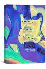 Electric Guitar Art, Canvas Print