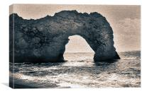 Old Painting of Durdle Door