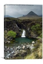 The Cuillin Mountains, Scotland., Canvas Print
