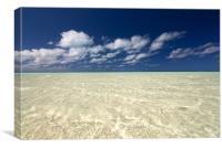 Aitutaki Lagoon, Canvas Print