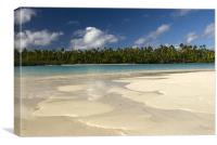 Sandy Shores - Aitutaki, Canvas Print