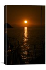 A Mediterranean sunset, Canvas Print