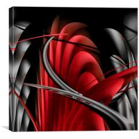 Underworld (Digital Abstract/Red), Canvas Print