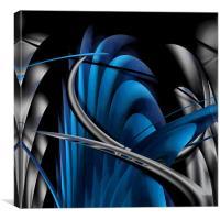 Underworld (Digital Abstract/Blue), Canvas Print
