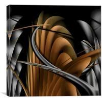 Underworld (Digital Abstract/Neutral), Canvas Print