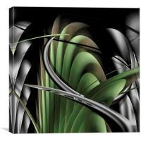 Underworld (Natural Fern Green), Canvas Print