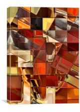 Mosaic Abstract (Copper/Brown), Canvas Print