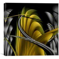 Underworld (Digital Abstract/Yellow), Canvas Print