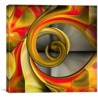With A Twist (of red), Canvas Print