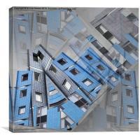 CityScape (soft blue version), Canvas Print
