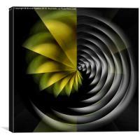 Black Hole (yellow), Canvas Print
