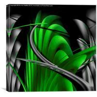 Underworld (bright green), Canvas Print
