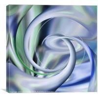 Twister (Blue), Canvas Print