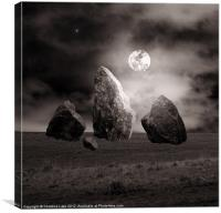 Moonlit Stones, Canvas Print