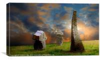 Sunset Stones, Canvas Print