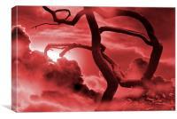 Blood Storm, Canvas Print