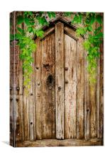 Behind A Closed Door, Canvas Print