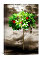 Rose Tree Red, Canvas Print