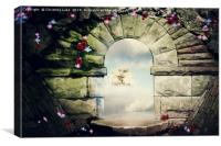 Through The Archway, Canvas Print