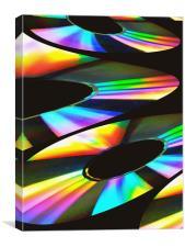 Rainbow Fractal, Canvas Print