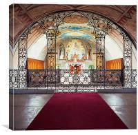 Interior of the Italian Chapel, Canvas Print