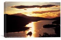 Sunset over Loch Tummel, Canvas Print